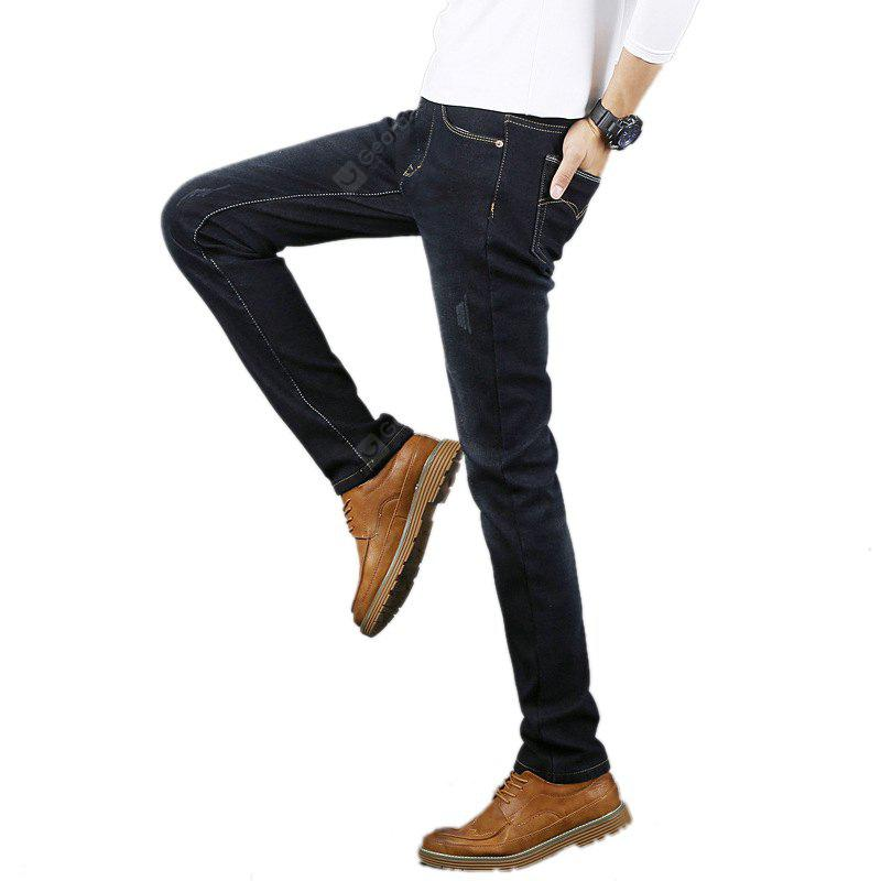 Daifansen New Winter Cashmere Canister and Thick Cashmere Jeans