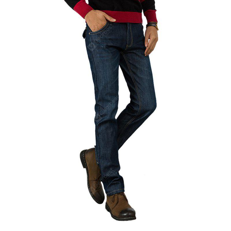 Daifansen Winter Men's Cashmere and Thick Straight Jeans