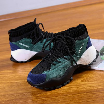 New High-Top WomenS Outdoor Sports ShoesWomens Sneakers<br>New High-Top WomenS Outdoor Sports Shoes<br><br>Available Size: 35-40<br>Closure Type: Lace-Up<br>Feature: Breathable<br>Gender: For Women<br>Outsole Material: Rubber<br>Package Contents: 1 x Shoes(pair)<br>Package size (L x W x H): 30.00 x 18.00 x 10.00 cm / 11.81 x 7.09 x 3.94 inches<br>Package weight: 0.7000 kg<br>Pattern Type: Patchwork<br>Season: Spring/Fall<br>Upper Material: Flock