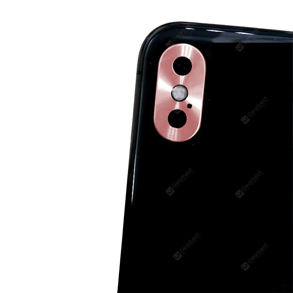 Rear Camera Guard Circle Metal Lens Protector Case Bumper iPhone X Lens Protection Ring ROSE GOLD