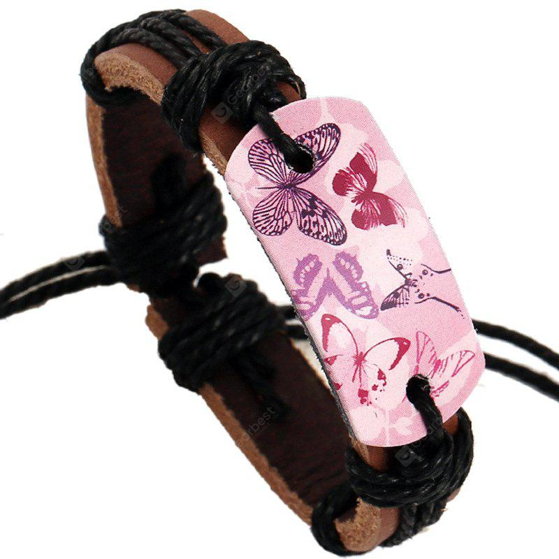 Vintage Cool Weaving Leather Bracelet Durable Charm Jewelry