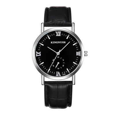 Fashion Ultra-Thin Waterproof Leather Strap Quartz Watch for Men