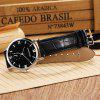 Fashion Ultra-Thin Waterproof Leather Strap Quartz Watch for Men - BLACK