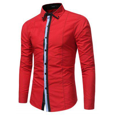 Men Fashion Spell Casual Long Sleeved Shirt Business Men Slim Large Size ShirtMens Shirts<br>Men Fashion Spell Casual Long Sleeved Shirt Business Men Slim Large Size Shirt<br><br>Collar: Turn-down Collar<br>Material: Polyester<br>Package Contents: 1x Shirt<br>Shirts Type: Casual Shirts<br>Sleeve Length: Full<br>Weight: 0.2100kg