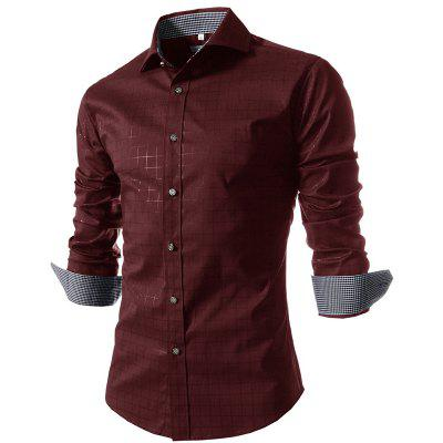 New Fashion MenS Long-Sleeved Plaid ShirtMens Shirts<br>New Fashion MenS Long-Sleeved Plaid Shirt<br><br>Collar: Turn-down Collar<br>Material: Polyester<br>Package Contents: 1x Shirt<br>Shirts Type: Casual Shirts<br>Sleeve Length: Full<br>Weight: 0.2300kg