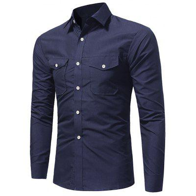 New Classic Double Pocket Casual Long Sleeved ShirtMens Shirts<br>New Classic Double Pocket Casual Long Sleeved Shirt<br><br>Collar: Turn-down Collar<br>Material: Polyester<br>Package Contents: 1x Shirt<br>Shirts Type: Casual Shirts<br>Sleeve Length: Full<br>Weight: 0.2200kg
