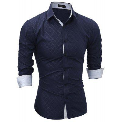 Spring New Classic Dark Line Lingge Male Casual Long Sleeved ShirtMens Shirts<br>Spring New Classic Dark Line Lingge Male Casual Long Sleeved Shirt<br><br>Collar: Turn-down Collar<br>Material: Polyester<br>Package Contents: 1x Shirt<br>Shirts Type: Casual Shirts<br>Sleeve Length: Full<br>Weight: 0.2300kg