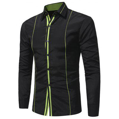 New Personality Trim Pull Casual Long Sleeved ShirtMens Shirts<br>New Personality Trim Pull Casual Long Sleeved Shirt<br><br>Collar: Turn-down Collar<br>Material: Polyester<br>Package Contents: 1x Shirt<br>Shirts Type: Casual Shirts<br>Sleeve Length: Full<br>Weight: 0.2300kg