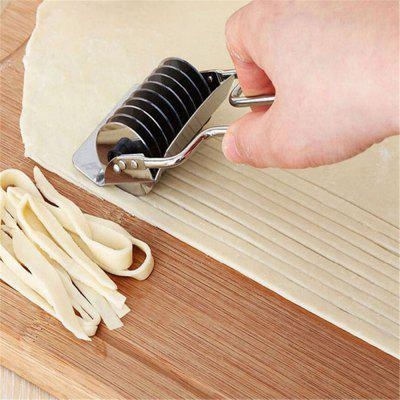 Steel Noodle Maker Lattice Roller Docker Dough Cutter Tool Kitchen Helper Dough Cutting Tool