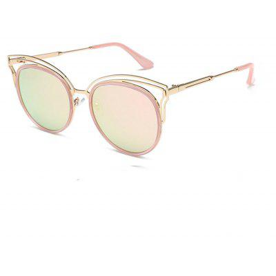 Reflective Cat Eye Colorful Metal Glasses
