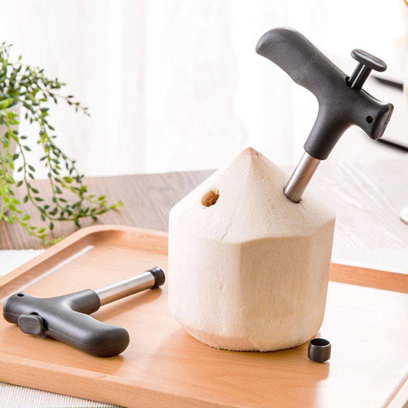 Hot Kitchen Accessories New Durable Stainless Steel Coconut Opener Opening Driller Cut Hole Tool Knife