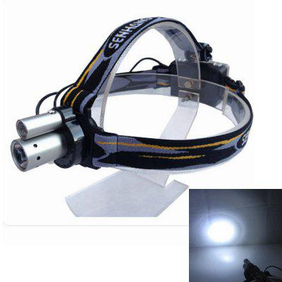 Sencart Double LED Headlamp Headlight Waterproof Head Lamp Outdoor Camping Faróis de pesca