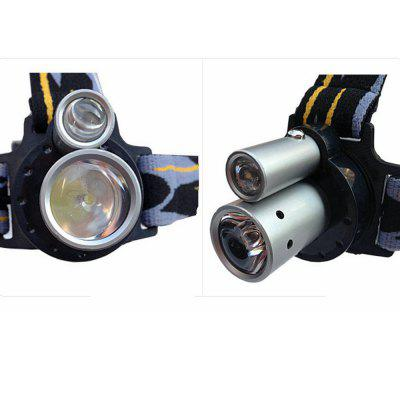 Sencart Double LED Headlamp Headlight Waterproof Head Lamp Outdoor Camping Fishing headlightsHeadlights<br>Sencart Double LED Headlamp Headlight Waterproof Head Lamp Outdoor Camping Fishing headlights<br><br>Adjustable Focus: Yes<br>Available Light Color: White<br>Battery Included or Not: No<br>Battery Quantity: 3<br>Beam Distance: 100-150m<br>Body Material: ABS+Aluminum Alloy<br>Emitters Quantity: 2<br>Feature: Adjustable Battery Tube, Headlamp, Rotatable Head, Dual Light-source, Retractable Focus, Waterproof Battery Pack, Waterproof<br>Function: Seeking Survival, Mining, EDC, Household Use, Exploring, Night Riding, Walking, Hunting, Hiking, Camping, Fishing<br>LED Lifespan: 100000<br>Lens: Resin Convex Lens<br>Luminous Flux: 800-1200<br>Main Emitters: Other,Cree R2<br>Mode: Double-headed double button<br>Package Contents: 1 x LED headlights<br>Package size (L x W x H): 11.00 x 9.50 x 7.50 cm / 4.33 x 3.74 x 2.95 inches<br>Package weight: 0.1300 kg<br>Power Source: Battery<br>Product size (L x W x H): 2.90 x 2.10 x 2.10 cm / 1.14 x 0.83 x 0.83 inches<br>Product weight: 0.0900 kg<br>Reflector: Aluminum Smooth Reflector<br>Switch Location: Top<br>Switch Type: Clicky<br>Type: LED Headlamp, Headlamp Flashlight, Front Headlight<br>Waterproof: IP44 Waterproof Standard