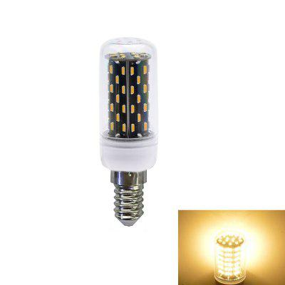 1PC 5W E14 500LM 76LEDS SMD4014 Decorative Segmented Dimmer LED Corn Light AC 220V