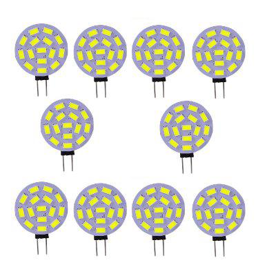 10PCS G4 4W LED Bi-Pin Lights 15SMD 5730 350-400LM DC12VLED Bi-pin Lights<br>10PCS G4 4W LED Bi-Pin Lights 15SMD 5730 350-400LM DC12V<br><br>Color Temperature or Wavelength: 6000 - 6500K (White) ; 2800 - 3200K (Warm White)<br>Connection: G4<br>Connector Type: G4<br>Dimmable: No<br>Features: Decorative, Infrared Sensor<br>Initial Lumens ( lm ): 350-400<br>LED Beam Angle: 180 Degree<br>LED Quantity: 15<br>LED Type: SMD 5730<br>Lifetime ( h ): More Than  30000<br>Light Source Color: White,Warm White<br>Material: PCB<br>Package Contents: 10 x LED BI-PIN Lamp<br>Package size (L x W x H): 10.00 x 8.00 x 1.00 cm / 3.94 x 3.15 x 0.39 inches<br>Package weight: 0.0300 kg<br>Primary Application: Home,Cycling,Camping,Living Room,Bathroom,Bedroom,Kitchen,Children Room,Living Room or Dining Room,Hallway or Stairwell,Storage Room or Utility Room,Garage or Carport,Residential,Everyday Use,Children<br>Product size (L x W x H): 4.40 x 3.00 x 0.43 cm / 1.73 x 1.18 x 0.17 inches<br>Product weight: 0.0030 kg<br>Quantity: 10pcs<br>Type: LED Bi-pin Lights<br>Voltage: 12V DC<br>Wattage: 4W