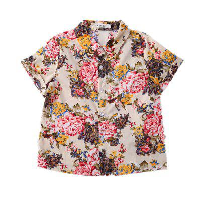 Kimoct Summer Boy Short-sleeved Floral Shirt Casual Trousers SuitBoys Clothing Sets<br>Kimoct Summer Boy Short-sleeved Floral Shirt Casual Trousers Suit<br><br>Brand: kimocat<br>Closure Type: Single Breasted<br>Collar: Turn-down Collar<br>Fabric Type: Broadcloth<br>Gender: Boy<br>Material: Cotton<br>Package Contents: 1 x Suit<br>Package size (L x W x H): 29.00 x 33.00 x 1.50 cm / 11.42 x 12.99 x 0.59 inches<br>Package weight: 0.2100 kg<br>Pattern Style: Print<br>Product weight: 0.2100 kg<br>Season: Summer<br>Sleeve Length: Short<br>Sleeve Style: Regular<br>Style: Han Edition<br>Thickness: Thin<br>Weight: 0.2871kg