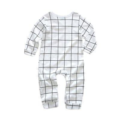Kimocat Baby Spring Jumpsuit Baby Cotton Long-sleeved Grid Climb Clothesbaby rompers<br>Kimocat Baby Spring Jumpsuit Baby Cotton Long-sleeved Grid Climb Clothes<br><br>Closure Type: Covered Button<br>Collar: Round Neck<br>Fabric Type: Jersey<br>Gender: Unisex<br>Material: Cotton<br>Package Contents: 1 x Jumpsuit<br>Pattern Style: Plaid<br>Season: Spring<br>Sleeve Length: Full<br>Sleeve Style: Regular<br>Thickness: Thin<br>Weight: 0.1092kg