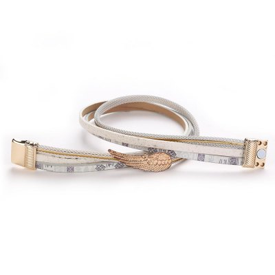 GS001 Women Leather Bracelet with Wing CharmBracelets &amp; Bangles<br>GS001 Women Leather Bracelet with Wing Charm<br><br>Closure Type: Magnet<br>Gender: For Women<br>Length of Chain: 39.3 cm<br>Metal Type: Zinc Alloy<br>Package Contents: 1 x bracelet<br>Package size (L x W x H): 21.00 x 4.00 x 1.00 cm / 8.27 x 1.57 x 0.39 inches<br>Package weight: 0.0300 kg<br>Product weight: 0.0280 kg<br>Shape/Pattern: Feather<br>Style: Trendy