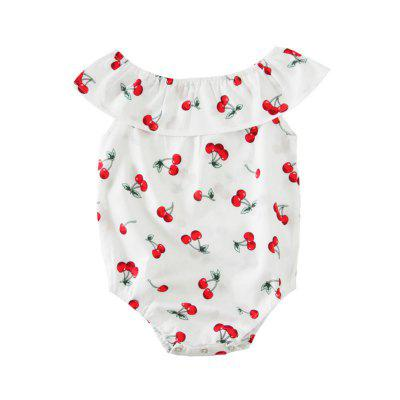 SOSOCOER Baby Clothes Set Girls Bodysuits Cherry Stamp Sleeveless Romper and Hair Band Two Piecebaby rompers<br>SOSOCOER Baby Clothes Set Girls Bodysuits Cherry Stamp Sleeveless Romper and Hair Band Two Piece<br><br>Brand: SOSOCOER<br>Closure Type: Pullover<br>Collar: Ruff Collar<br>Color: White,Red<br>Gender: Girl<br>Material: Cotton<br>Package Contents: 1 x Romper<br>Season: Summer<br>Sleeve Length: Sleeveless<br>Style: Joker<br>Thickness: General<br>Weight: 0.0900kg