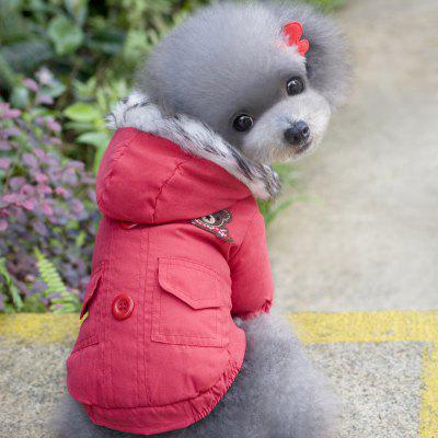 Lovoyager B8 Pet Clothes Winter Cute Bear Coats for Chihuahua Yorkshire Dog Hoodies