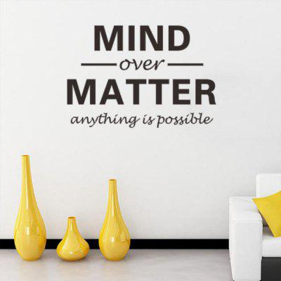 Anything Is Possible Motivational Quotes Wall Sticker For Bedroom Living Room Vinyl Waterproof Removable Wall DecalWall Stickers<br>Anything Is Possible Motivational Quotes Wall Sticker For Bedroom Living Room Vinyl Waterproof Removable Wall Decal<br><br>Art Style: Plane Wall Stickers, Toilet Stickers<br>Artists: Others<br>Brand: DSU<br>Color Scheme: Black<br>Effect Size (L x W): 57 x 39 cm<br>Function: Decorative Wall Sticker<br>Layout Size (L x W): 57 x 39 cm<br>Material: Vinyl(PVC)<br>Package Contents: 1 x Wall Sticker<br>Package size (L x W x H): 43.00 x 5.00 x 5.00 cm / 16.93 x 1.97 x 1.97 inches<br>Package weight: 0.0900 kg<br>Product size (L x W x H): 57.00 x 39.00 x 0.01 cm / 22.44 x 15.35 x 0 inches<br>Product weight: 0.0400 kg<br>Quantity: 1<br>Subjects: Fashion,Letter,Cute,Cartoon,Famous<br>Suitable Space: Living Room,Bedroom,Hotel,Kids Room,Entry,Kitchen,Pathway,Door,Corridor,Hallway,Boys Room,Game Room<br>Type: Plane Wall Sticker