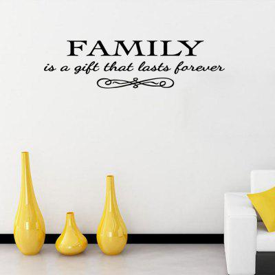 DSU A Family Is A Gift Vintage Art Posters Wall Stickers Home Cafe Bar Pub Wall DecorWall Stickers<br>DSU A Family Is A Gift Vintage Art Posters Wall Stickers Home Cafe Bar Pub Wall Decor<br><br>Art Style: Plane Wall Stickers, Toilet Stickers<br>Artists: Others<br>Brand: DSU<br>Color Scheme: Black<br>Effect Size (L x W): 57 x 15 cm<br>Function: Decorative Wall Sticker<br>Layout Size (L x W): 57 x 15 cm<br>Material: Vinyl(PVC)<br>Package Contents: 1 x Wall Sticker<br>Package size (L x W x H): 18.00 x 5.00 x 5.00 cm / 7.09 x 1.97 x 1.97 inches<br>Package weight: 0.0400 kg<br>Product size (L x W x H): 57.00 x 15.00 x 0.01 cm / 22.44 x 5.91 x 0 inches<br>Product weight: 0.0300 kg<br>Quantity: 1<br>Subjects: Fashion,Letter,Cute,Cartoon,Famous<br>Suitable Space: Living Room,Bedroom,Hotel,Kids Room,Entry,Kitchen,Pathway,Door,Corridor,Hallway,Boys Room,Game Room<br>Type: Plane Wall Sticker