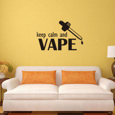 Personalized Wall Sticker Keep Calm and Vape Vinyl Art Decal - $3.43 ...