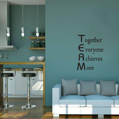 DSU Team Motivational Quote Office Wall Sticker Together Everyone Achieves More Inspirational Wall Art DecorWall Stickers<br>DSU Team Motivational Quote Office Wall Sticker Together Everyone Achieves More Inspirational Wall Art Decor<br><br>Art Style: Plane Wall Stickers, Toilet Stickers<br>Artists: Others<br>Brand: DSU<br>Color Scheme: Black<br>Effect Size (L x W): 54.7 x 73.9 cm<br>Function: Decorative Wall Sticker<br>Layout Size (L x W): 57 x 51.4 cm<br>Material: Vinyl(PVC)<br>Package Contents: 1 x Wall Sticker<br>Package size (L x W x H): 54.00 x 5.00 x 5.00 cm / 21.26 x 1.97 x 1.97 inches<br>Package weight: 0.1000 kg<br>Product size (L x W x H): 57.00 x 51.40 x 0.01 cm / 22.44 x 20.24 x 0 inches<br>Product weight: 0.0500 kg<br>Quantity: 1<br>Subjects: Fashion,Letter,Cute,Cartoon,Famous<br>Suitable Space: Living Room,Bedroom,Hotel,Kids Room,Entry,Kitchen,Pathway,Door,Corridor,Hallway,Boys Room,Game Room<br>Type: Plane Wall Sticker
