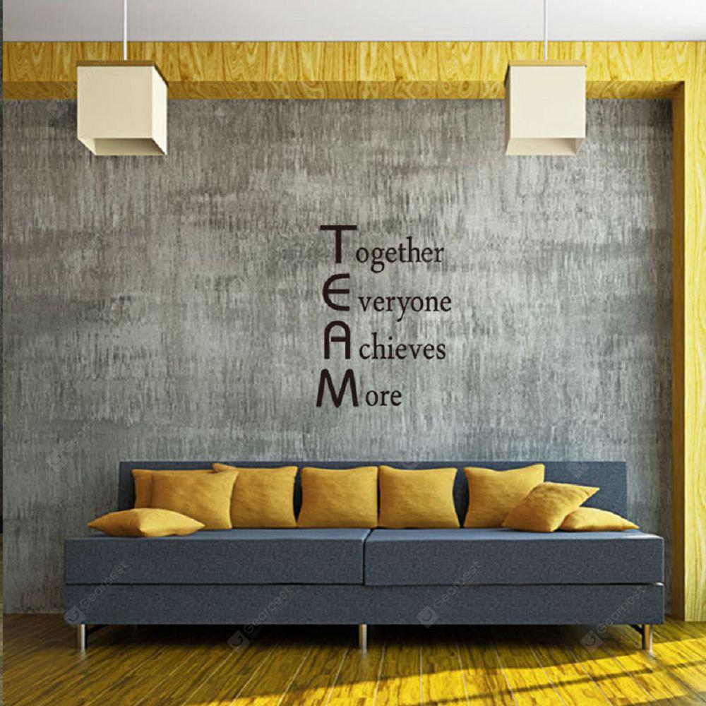 inspirational wall art for office. DSU Team Motivational Quote Office Wall Sticker Together Everyone Achieves More Inspirational Art Decor For L