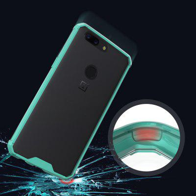 Transparent Surface Shockproof Back PC Case for OnePlus 5TCases &amp; Leather<br>Transparent Surface Shockproof Back PC Case for OnePlus 5T<br><br>Features: Anti-knock<br>Material: PC<br>Package Contents: 1 x Phone Case<br>Package size (L x W x H): 20.00 x 20.00 x 5.00 cm / 7.87 x 7.87 x 1.97 inches<br>Package weight: 0.0500 kg<br>Product weight: 0.0300 kg<br>Style: Solid Color