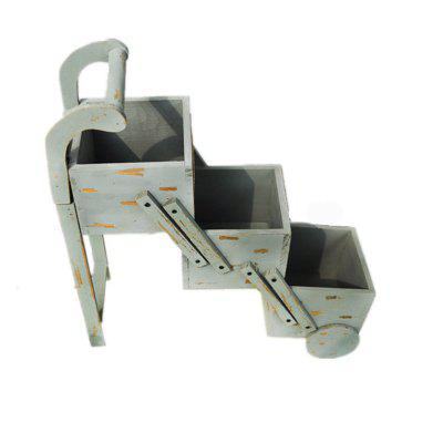 European Style Folding Multi-Layer Flower Rack Ladder-Shaped Floor Basin Frame