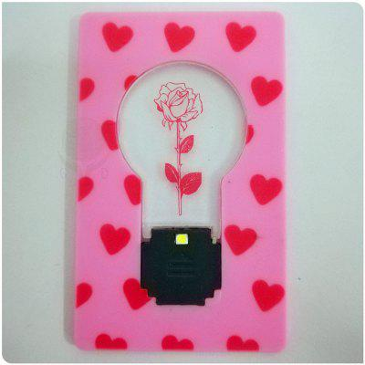 Rose Card Pocket Lamp Monedero blanco claro