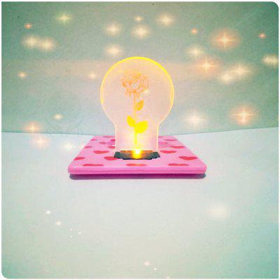 Rose Card Pocket Lamp Monedero naranja claro