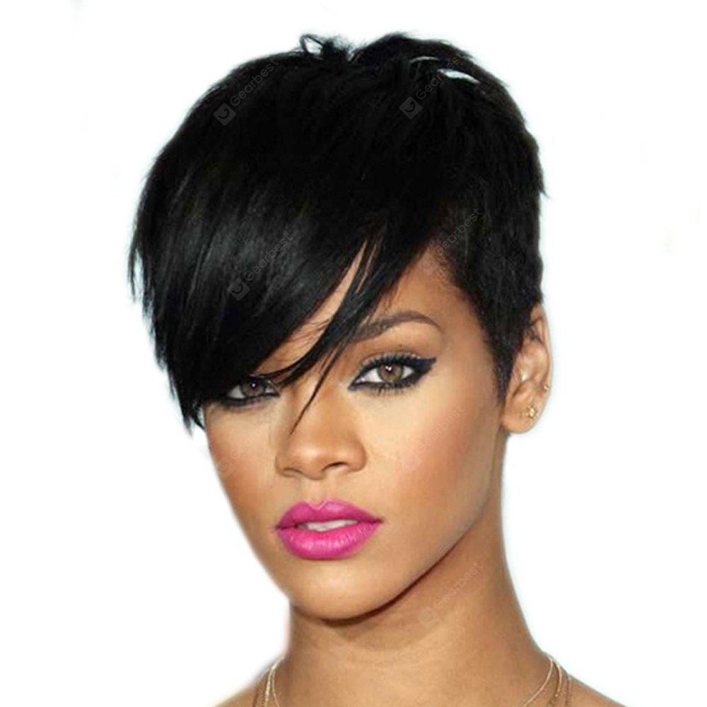 Fashion Women Hair Accessory Synthetic Black Short Straight Wigs