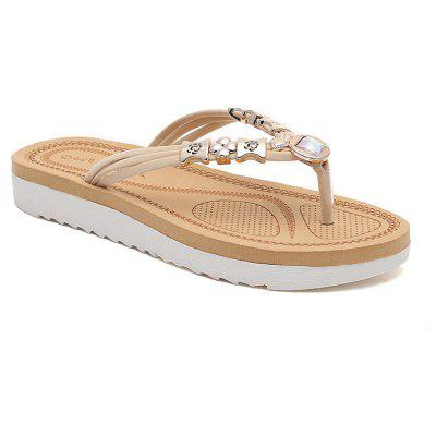 Splint Fashionable Water Drill Flat Flip Flops