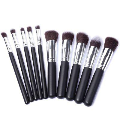 10 Make Up Cosmetics Bamboo Handle Soft Synthetic Hair SuitMakeup Brushes &amp; Tools<br>10 Make Up Cosmetics Bamboo Handle Soft Synthetic Hair Suit<br><br>Brush hair: Fiber<br>Package Contents: 5 X Big brush 5 X A small brush<br>Package size (L x W x H): 15.00 x 5.00 x 5.00 cm / 5.91 x 1.97 x 1.97 inches<br>Package weight: 0.0900 kg<br>Product size (L x W x H): 13.00 x 2.00 x 2.00 cm / 5.12 x 0.79 x 0.79 inches<br>Product weight: 0.0800 kg<br>Style: Round