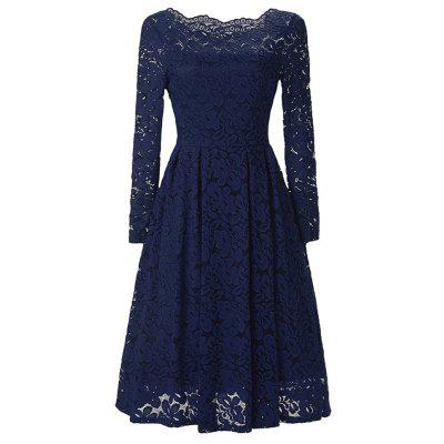 WomenS Vintage Floral Lace Long Sleeve Boat Neck Cocktail Formal Swing DressWomens Dresses<br>WomenS Vintage Floral Lace Long Sleeve Boat Neck Cocktail Formal Swing Dress<br><br>Dresses Length: Knee-Length<br>Elasticity: Nonelastic<br>Fabric Type: Chiffon<br>Material: Lace<br>Neckline: Slash Neck<br>Package Contents: 1xDress<br>Pattern Type: Print<br>Season: Spring, Summer, Fall<br>Silhouette: A-Line<br>Sleeve Length: 3/4 Length Sleeves<br>Style: Vintage<br>Weight: 0.5000kg<br>With Belt: No