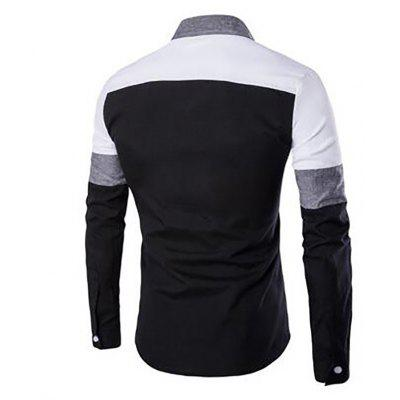Mens Daily Casual All Seasons Shirt Stitching Block Classic Collar Long SleevesMens Shirts<br>Mens Daily Casual All Seasons Shirt Stitching Block Classic Collar Long Sleeves<br><br>Collar: Turn-down Collar<br>Fabric Type: Broadcloth<br>Material: Cotton, Cotton Blends<br>Package Contents: 1 x Shirt<br>Shirts Type: Casual Shirts<br>Sleeve Length: Full<br>Weight: 0.2200kg