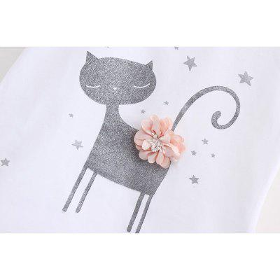 Summer Girl Clothes Flower Cat T-Shirt Short Skirt Suit For 2 - 6 Y Children Clothing SetGirls clothing sets<br>Summer Girl Clothes Flower Cat T-Shirt Short Skirt Suit For 2 - 6 Y Children Clothing Set<br><br>Collar: Round Neck<br>Elasticity: Elastic<br>Fabric Type: Worsted<br>Material: Cotton<br>Package Contents: 1 x Girl Clothes<br>Pattern Type: Animal<br>Shirt Length: Short<br>Sleeve Length: Short<br>Style: Leisure<br>Weight: 0.1350kg