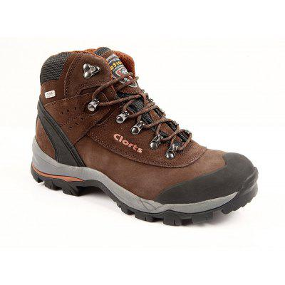 Clorts Genuine Leather Hiking Boots Nubuck Waterproof Outdoor Sneakers EVENT Climbing Shoes