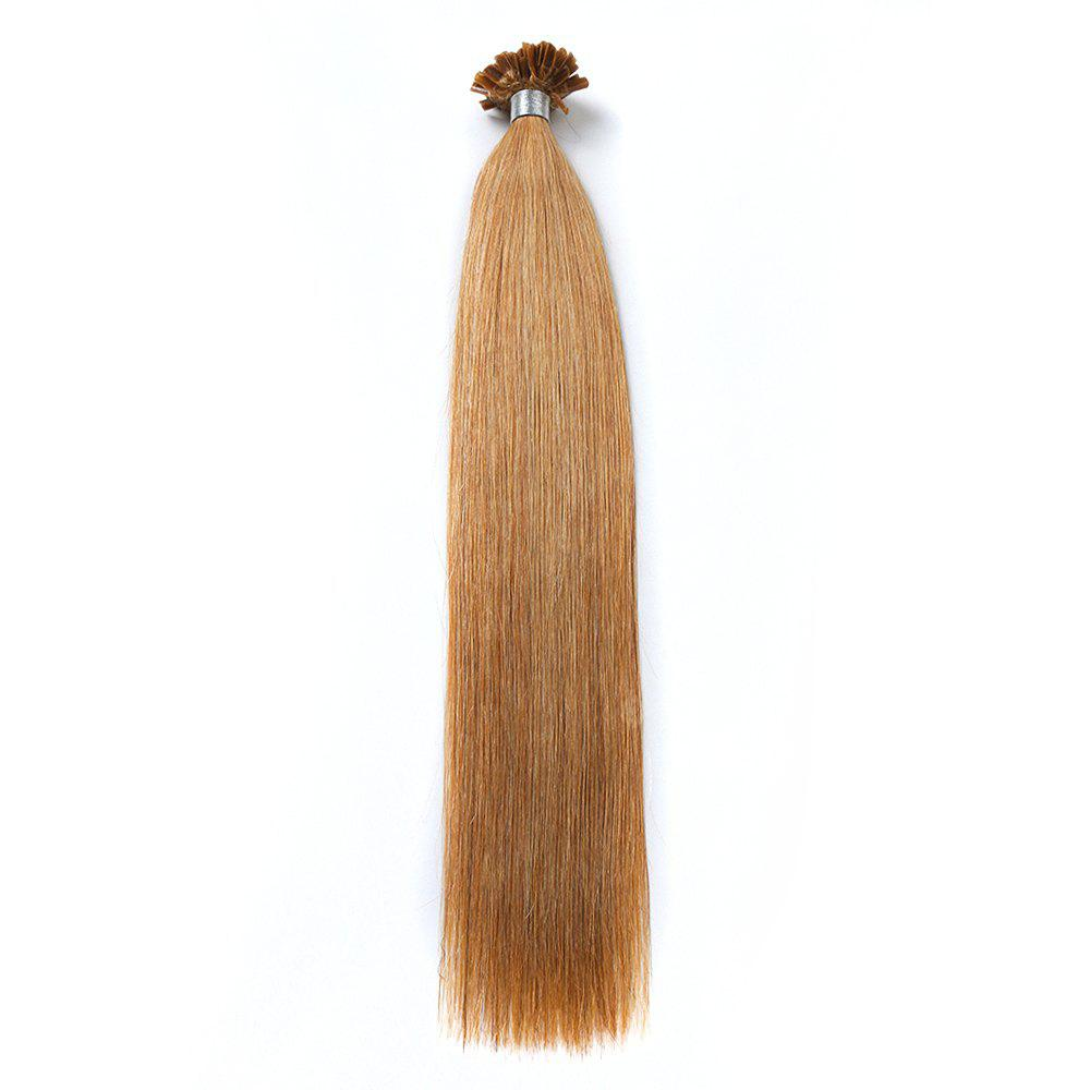 M.Light Colors Straight U Tip Hair Extensions Remy Hair in Fusion Hair Extensions 100pcs/pack