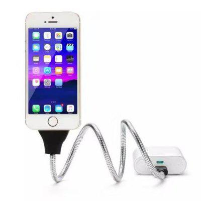 Lazy Bracket Metal Aluminum Alloy Stents Flexible Micro USB Charger Fast Charging Car Phone Cable Stand for IPhoneiPhone Cables &amp; Adapters<br>Lazy Bracket Metal Aluminum Alloy Stents Flexible Micro USB Charger Fast Charging Car Phone Cable Stand for IPhone<br><br>Mainly Compatible with: iPhone 4, iPhone 7 Plus, iPhone 7, iPhone 6S Plus, iPhone 5S, iPhone 5C, iPhone 4/4S, iPhone 6S, iPhone 6 Plus, iPhone 6, iPhone 5<br>Material ( Cable&amp;Adapter): Aluminum Alloy, Metal<br>Package Contents: 1 x Cable<br>Package size (L x W x H): 10.00 x 8.00 x 2.50 cm / 3.94 x 3.15 x 0.98 inches<br>Package weight: 0.0850 kg<br>Product weight: 0.0800 kg