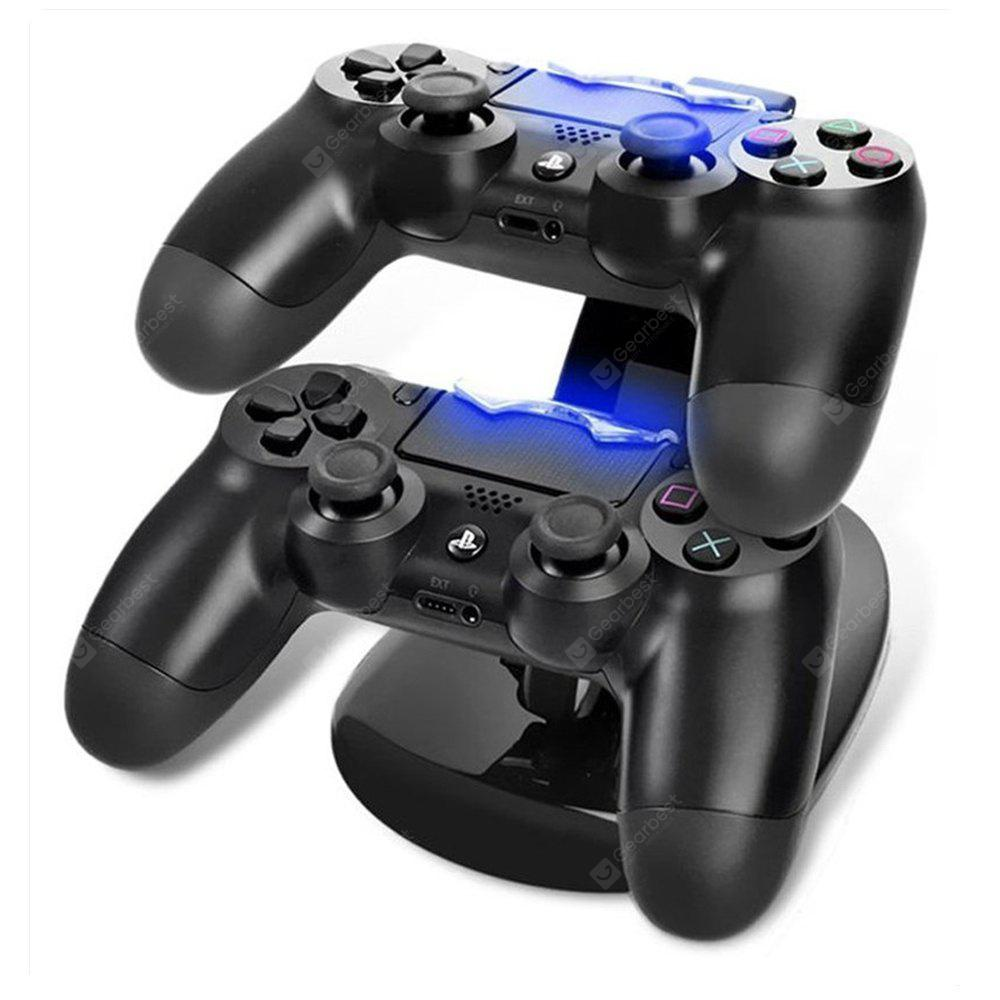 Dual Slot for Sony PlayStation 4 PS4 Controller LED Light Charging Station Stand Charger