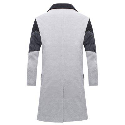 Men All-Match Oblique Striped Long WindbreakerMens Jackets &amp; Coats<br>Men All-Match Oblique Striped Long Windbreaker<br><br>Closure Type: Single Breasted<br>Clothes Type: Trench<br>Collar: Turn-down Collar<br>Color Style: Contrast Color<br>Colors: Black,Gray<br>Detachable Part: None<br>Fabric Type: Polyester<br>Hooded: No<br>Lining Material: Polyester<br>Materials: Cotton<br>Package Content: 1 ? Coat<br>Package size (L x W x H): 1.00 x 1.00 x 1.00 cm / 0.39 x 0.39 x 0.39 inches<br>Package weight: 0.4800 kg<br>Pattern Type: Patchwork<br>Shirt Length: Long<br>Size1: M,L,XL,2XL,3XL<br>Sleeve Style: Regular<br>Style: Fashion<br>Technics: Other<br>Thickness: Medium thickness<br>Type: Slim