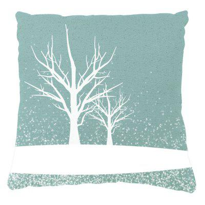 Winter Home Decor Tree Covered Snow Pront Pillow Cases