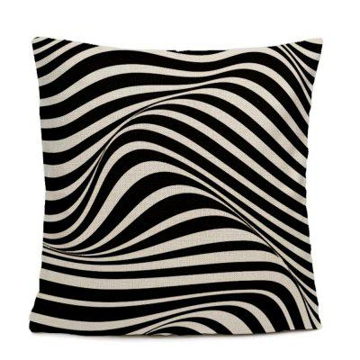 Black And White Ripple Pattern Bedroom Pillow Case