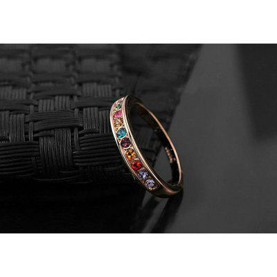 Concise Rose Gold Plated Top Class Small Colourful Rhinestones Mosaic Eternity Band Wedding RingRings<br>Concise Rose Gold Plated Top Class Small Colourful Rhinestones Mosaic Eternity Band Wedding Ring<br><br>Gender: For Women<br>Metal Type: Gold Plated<br>Occasion: Engagement<br>Package Content: 1 x Ring, 1 x box<br>Package size (L x W x H): 4.00 x 4.00 x 4.00 cm / 1.57 x 1.57 x 1.57 inches<br>Package weight: 0.0200 kg<br>Ring Size (US Size): 7,6,8,9<br>Setting Type: Channel Setting<br>Shape/Pattern: Round<br>Stone Color: Multi-color<br>Style: Romantic<br>Surface Plating: 18K Gold Plated