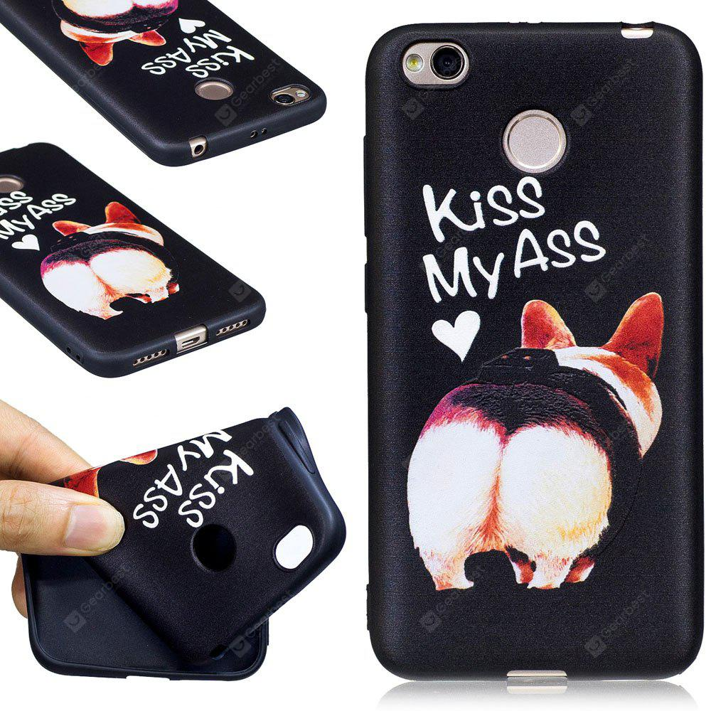 Relief Silicone Case for Xiaomi Redmi 4X Ass Pattern Soft TPU Protective Back Cover