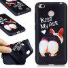 Relief Silicone Case for Xiaomi Redmi 4X Ass Pattern Soft TPU Protective Back Cover - BLACK