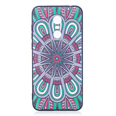 Relief Silicone Case for Xiaomi Redmi 5 Mandala Pattern Soft TPU Protective Back Cover protective silicone soft back case cover for iphone 5 white